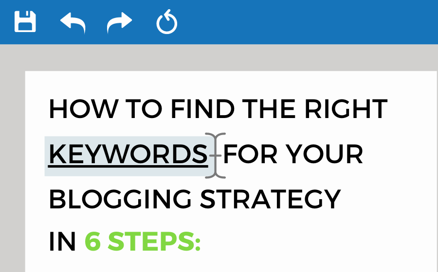 Keyword Blogging Strategy SEO