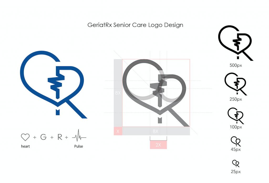 geriatrx logo design